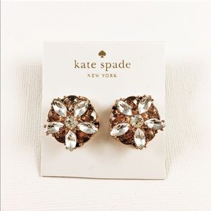 ✨NWT Kate Spade Rose Gold Statement Earrings